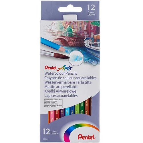 Pentel Watercolor Pencils 12 Colors