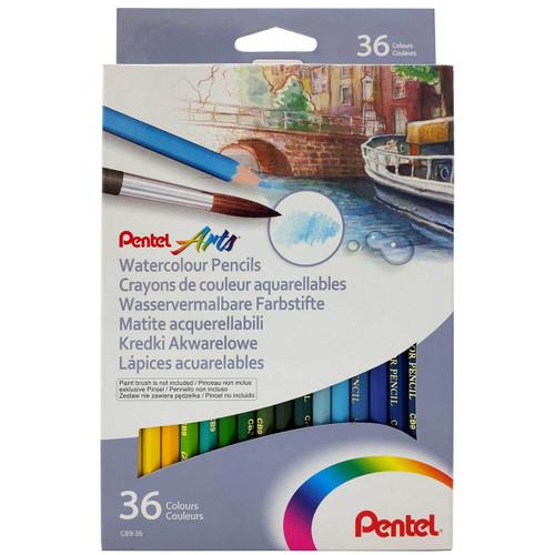 Pentel Watercolor Pencils 36 Colors