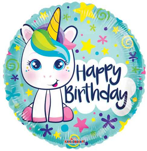 "18"" Birthday Cute Unicorn Balloon"