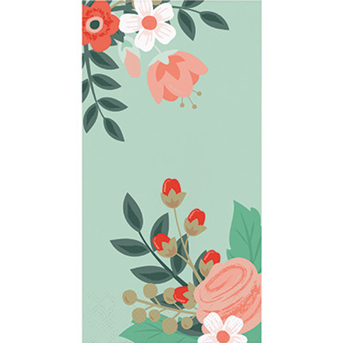 Modern Floral Mint 3-Ply Guest Towels