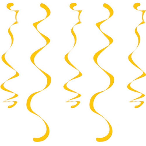 Yellow Dizzy Danglers