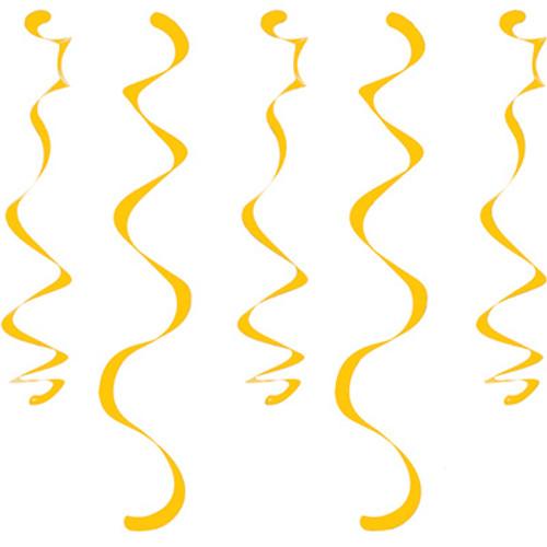 Yellow Dizzy Danglers