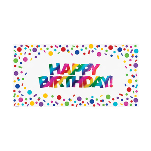 Rainbow Foil Birthday Large Paper Party Banner