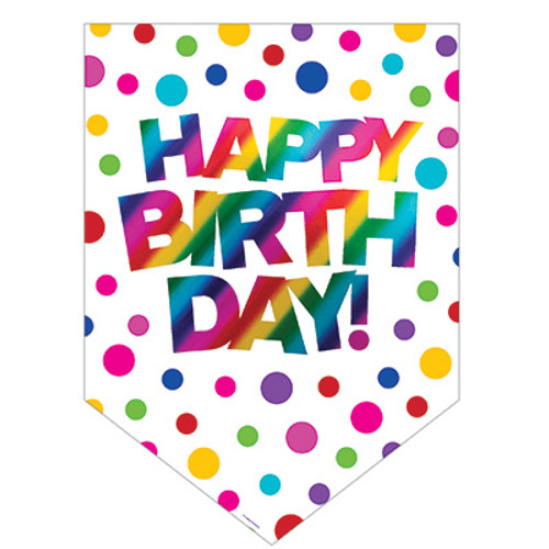Rainbow Foil Birthday Door Sign