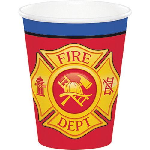 Flaming Fire Truck 9 oz Paper Cups