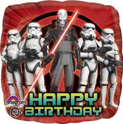 "17"" Star Wars Rebels Birthday Square Balloon"