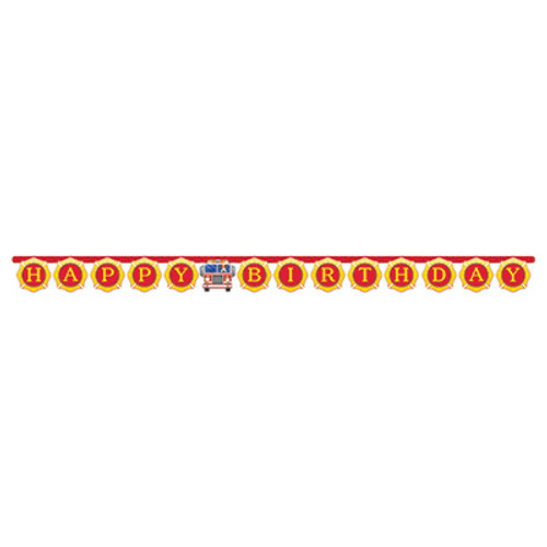 Flaming Fire Truck Large Jointed Banner