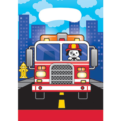 Flaming Fire Truck Loot Bags