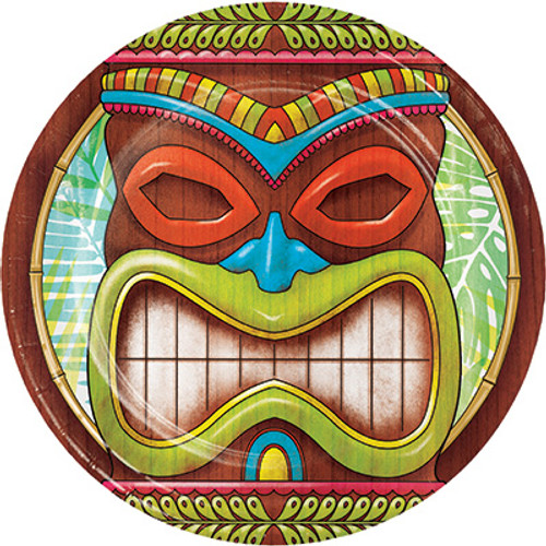 "Tiki Time 7"" Lunch Plates"
