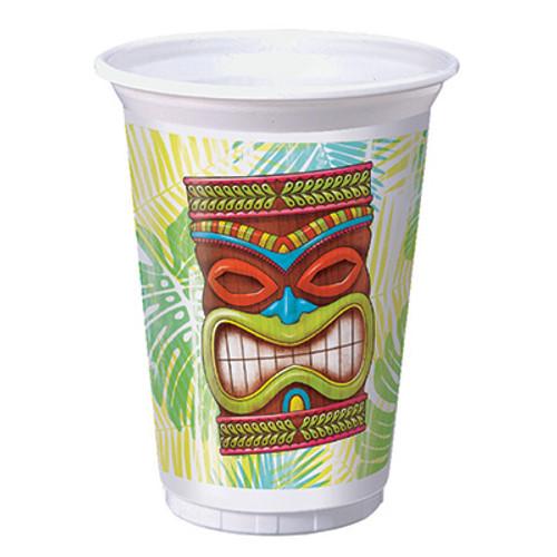 Tiki Time 16 oz. Printed Plastic Cups