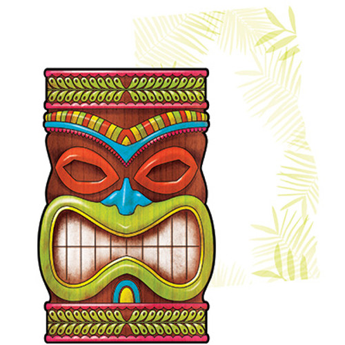 Tiki Time Postcard Invitation