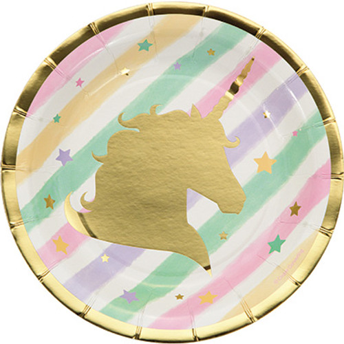 "Unicorn Sparkle 7"" Lunch Plates"