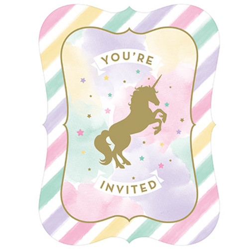 Unicorn Sparkle Postcard Invitations