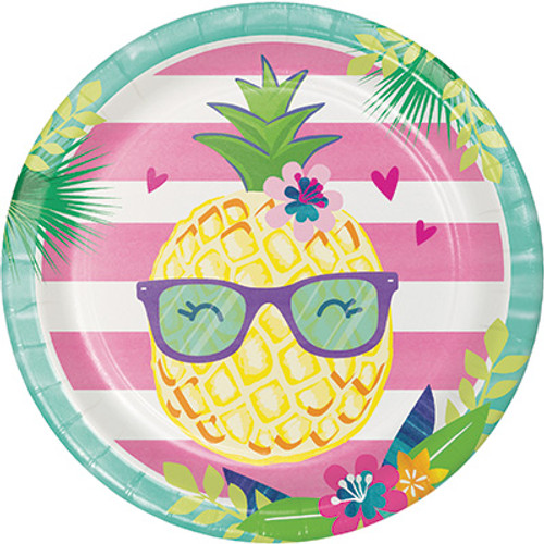 "Pineapple N Friends 9"" Dinner Plates"