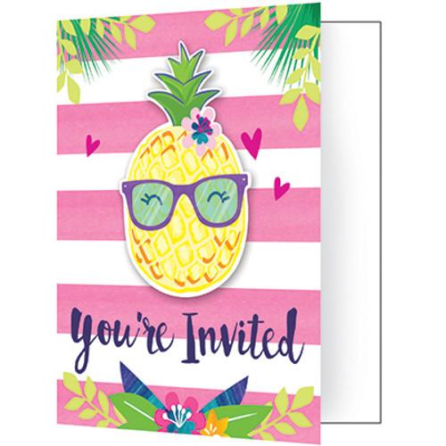 Pineapple N Friends Foldover Invitations