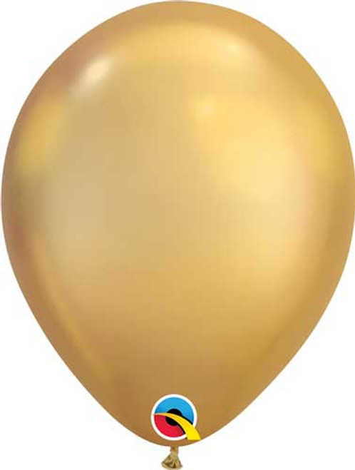 "Qualatex 11"" Chrome Gold Latex Balloon"
