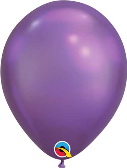 "Qualatex 11"" Chrome Purple Latex Balloon"