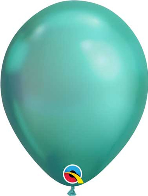"Qualatex 11"" Chrome Green Latex Balloon"