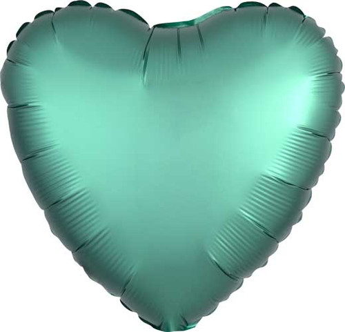 "17"" Satin Luxe Jade Heart Foil Balloon"