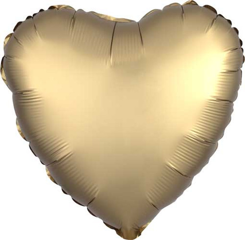 "17"" Satin Luxe Gold Heart Foil Balloon"