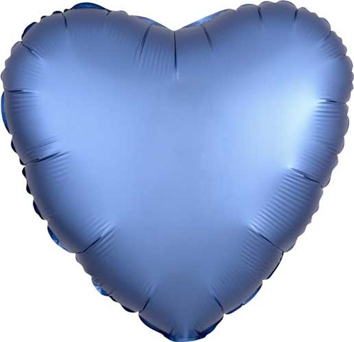 "17"" Satin Luxe Azure Heart Foil Balloon"