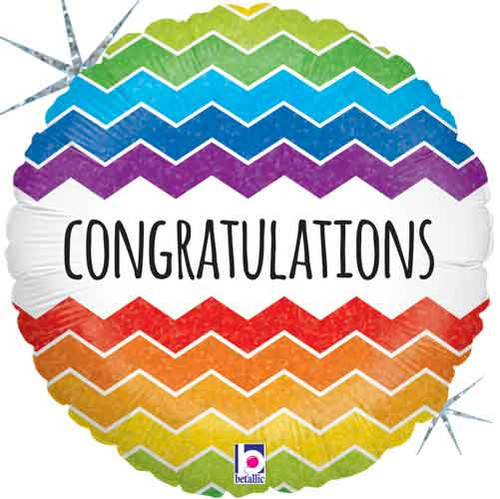 "18"" Congratulations Chevron Balloon"