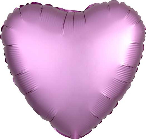 "17"" Satin Luxe Flamingo Heart Foil Balloon"