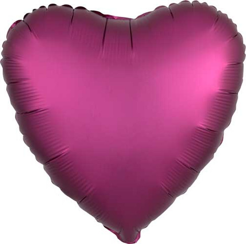 "17"" Satin Luxe Pomegranate Heart Foil Balloon"