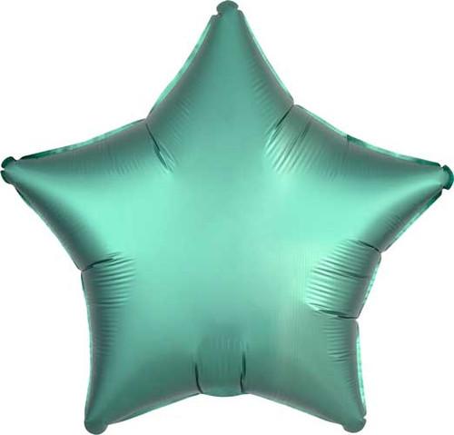 """19"""" Satin Luxe Jade Star Foil Balloon"""