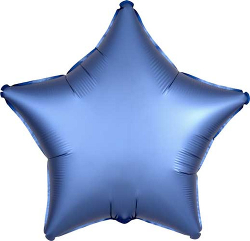 "19"" Satin Luxe Azure Star Foil Balloon"