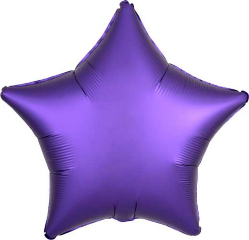 "19"" Satin Luxe Purple Star Foil Balloon"