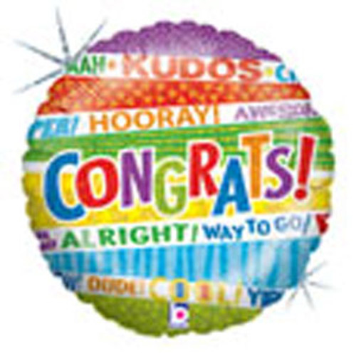 "18"" Lots of Congrats Balloon"