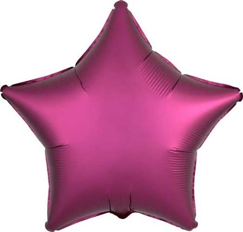 "19"" Satin Luxe Pomegranate Star Foil Balloon"