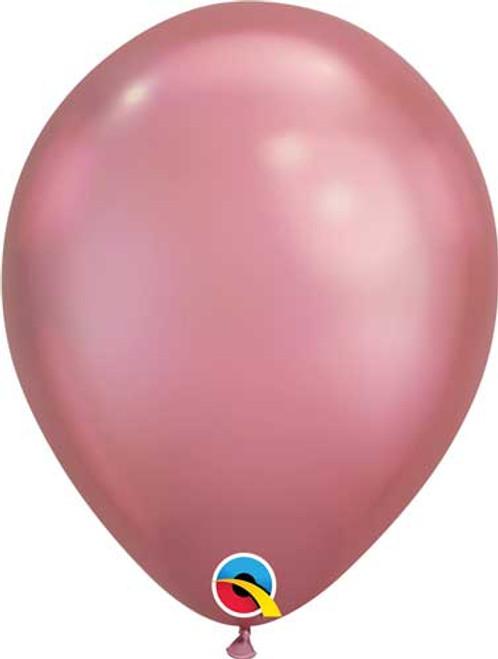 """Qualatex 7"""" Chrome Mauve Latex Balloon"""