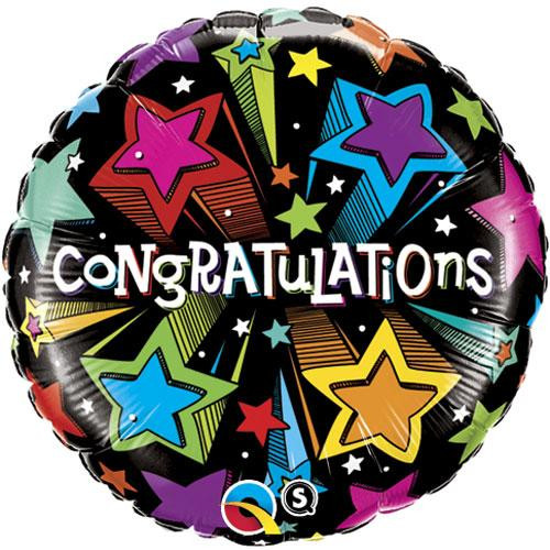 "18"" Congratulations Shooting Stars Balloon"
