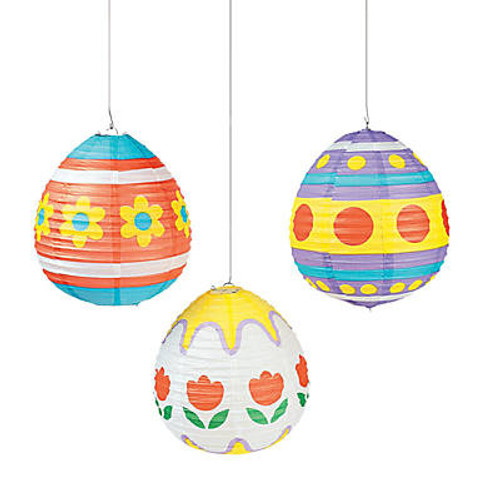 Paper Easter Egg Lanterns 3pcs/pack