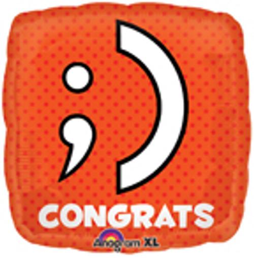 "18"" Texting Congrats Square Balloon"