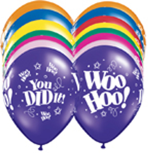 "11"" Woo Hoo You Did it Jewel Latex Balloon"