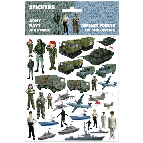 Singapore Army Navy and Air Force Pop Up Sticker