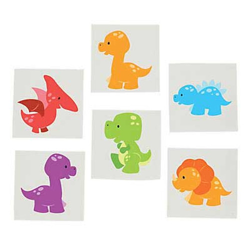 Little Dino Temporary Tattoos