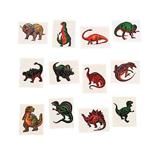 Realistic Dinosaur Temporary Tattoos 72pcs/pack