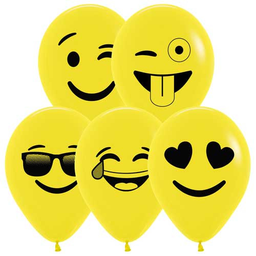 "11"" Emoji Latex Balloon"