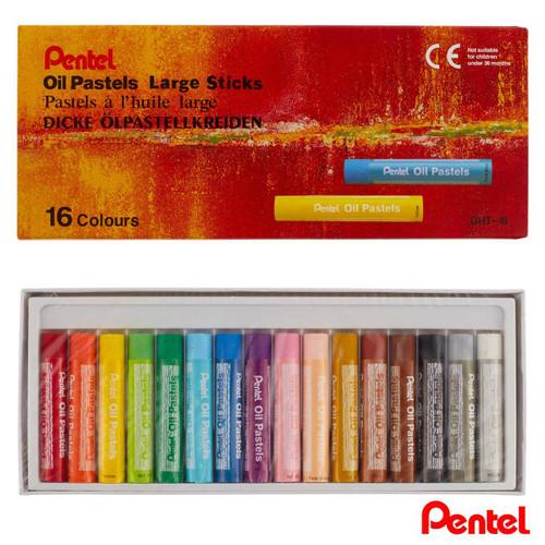 Pentel Oil Pastels Large Sticks GHT-16 16 Colors/box