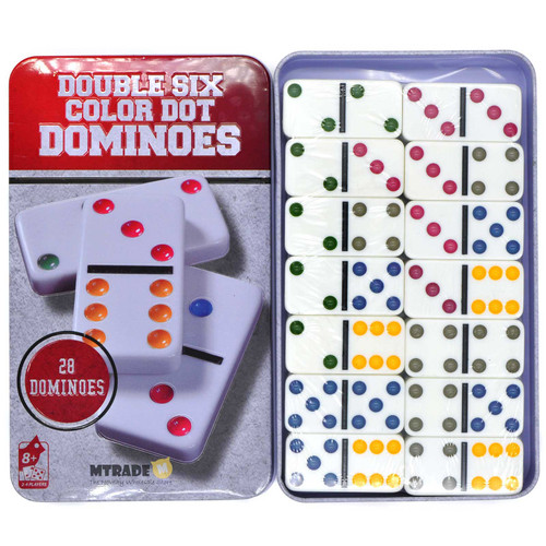 Dominoes Game Set 28pcs/metal box