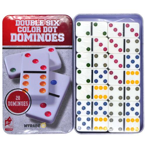 Dominoes Game Set 28pcs/metal box