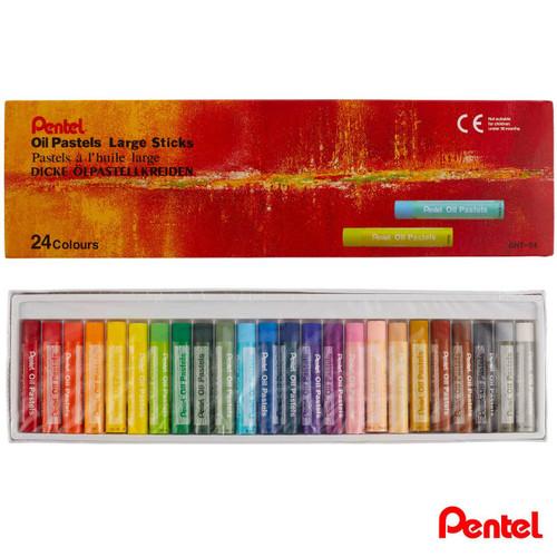 Pentel Oil Pastels Large Sticks GHT-24 24 Colors/box