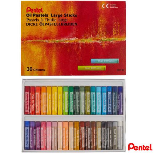 Pentel Oil Pastels Large Sticks GHT-36 36 Colors/box