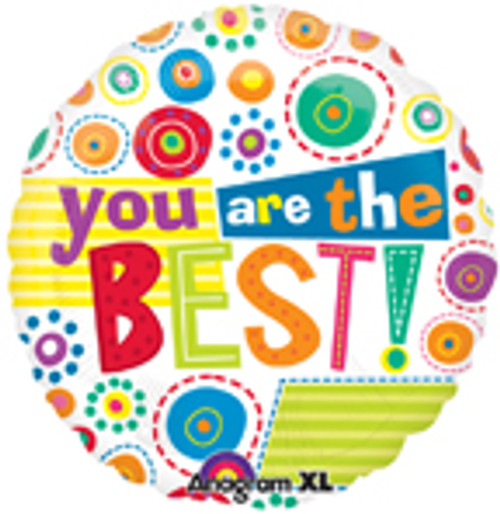 "18"" You Are The Best Whimsy Dots Balloon"