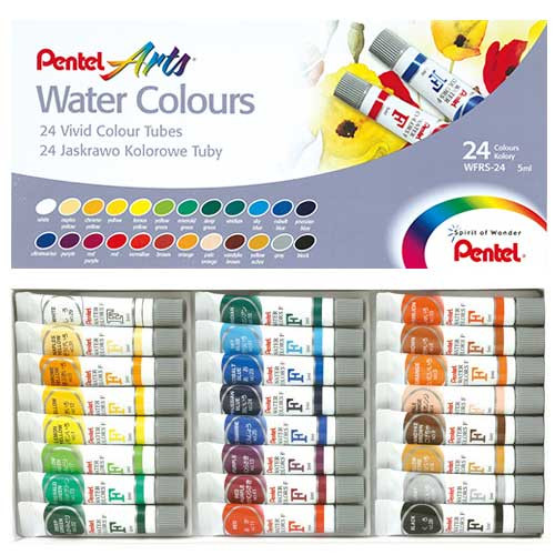 Pentel Arts Water Colours 24 colors/box WFRS-24