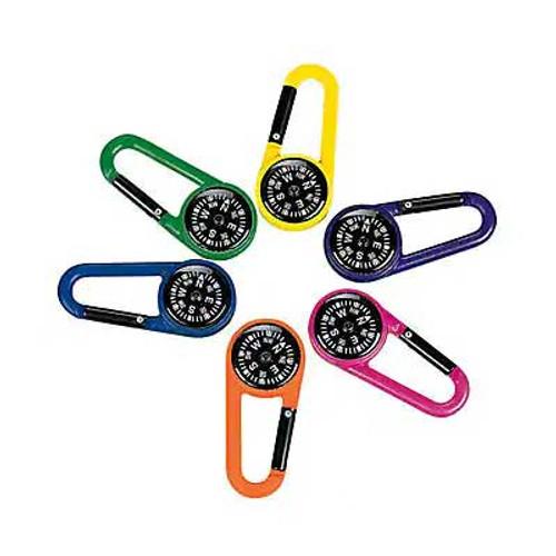 Compass Clip Keychains 12pcs/pack